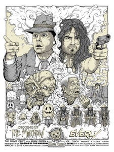 """Image of 'The Movie Crypt presents Digging Up The Marrow/EVERLY' limited edition 18""""x24"""" screen print"""