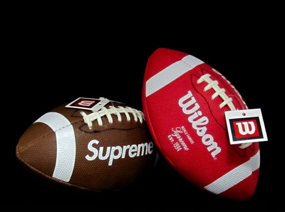 Image of SUPREME x WILSON FOOTBALL