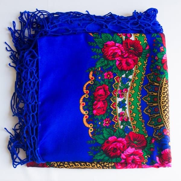 Image of Châle bleu ukrainien Lviv