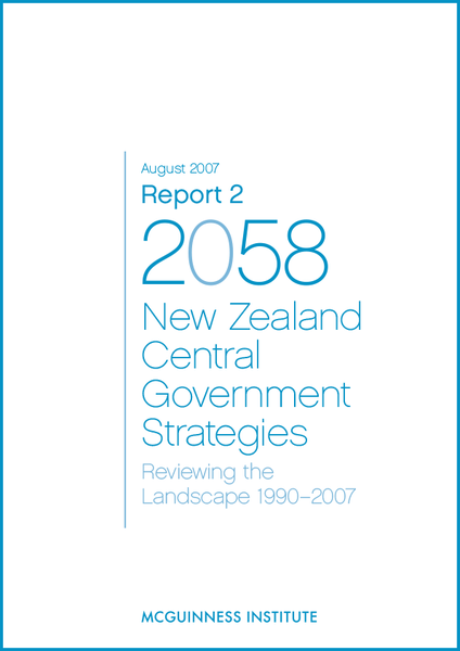 Image of Report 2 - New Zealand Central Government Strategies: Reviewing the landscape 1990–2007