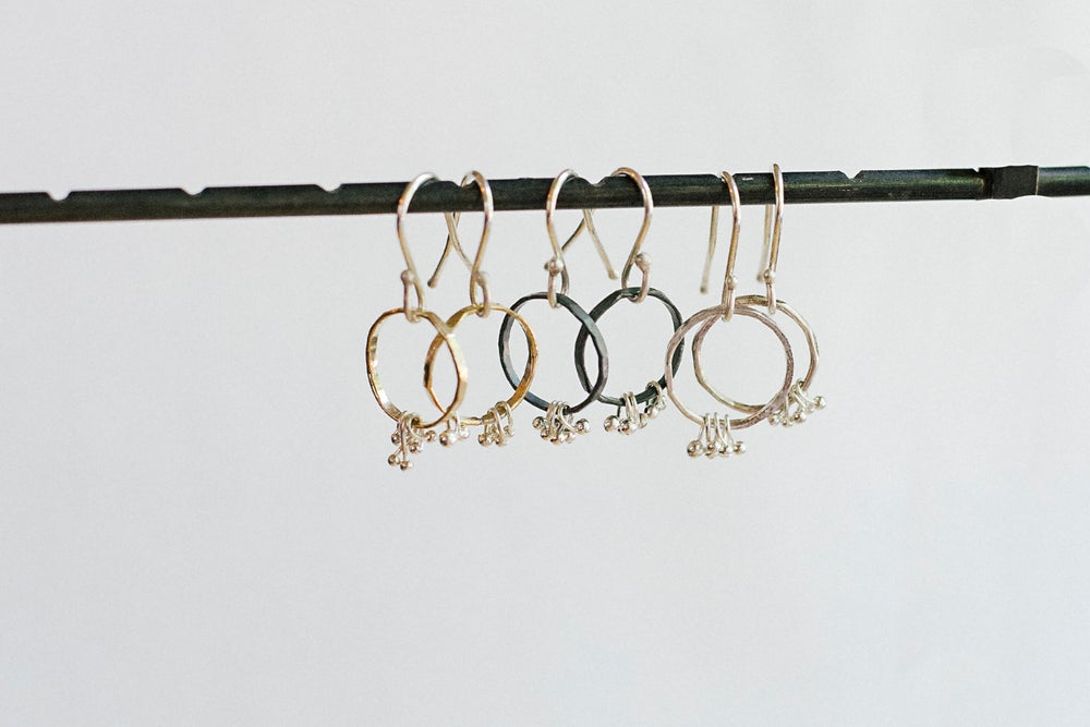 Image of Freya circle earrings