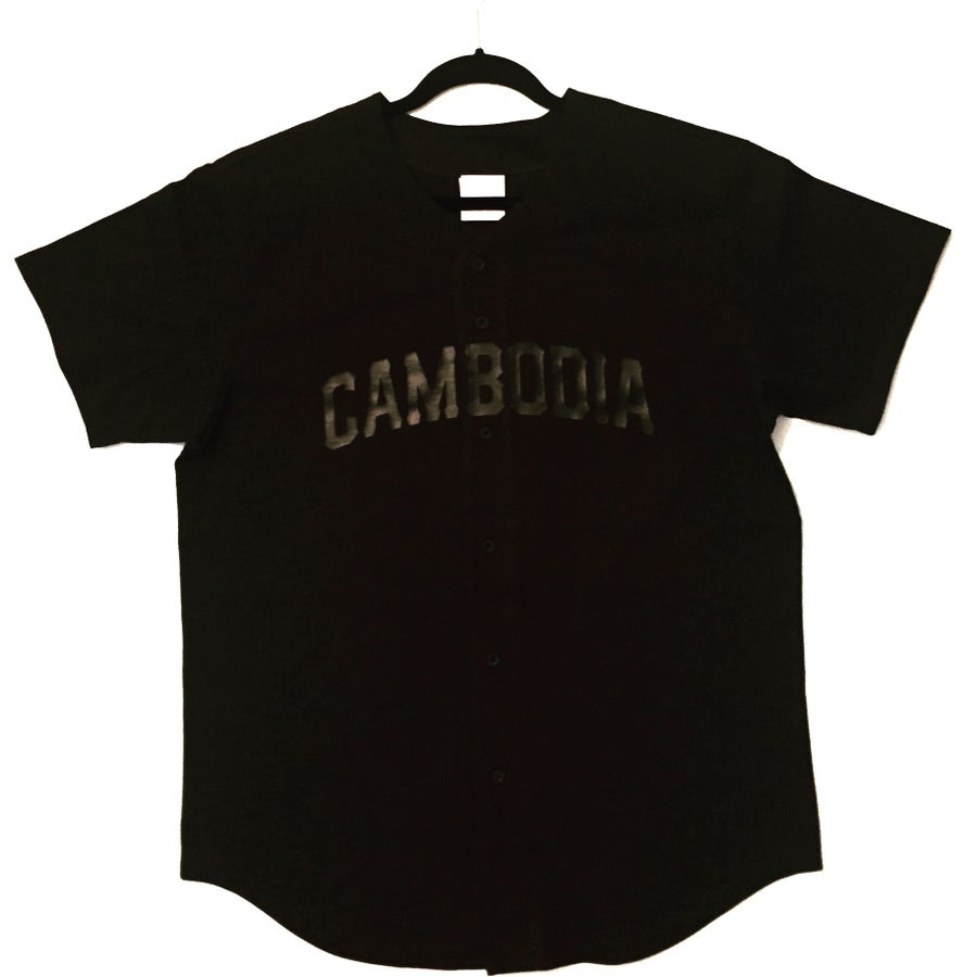 Image of Limited Edition Black on Black Vinyl Print Jersey