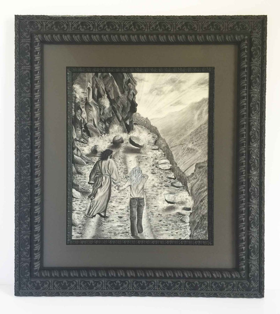 Image of I Am Not Alone: Original Framed Drawing