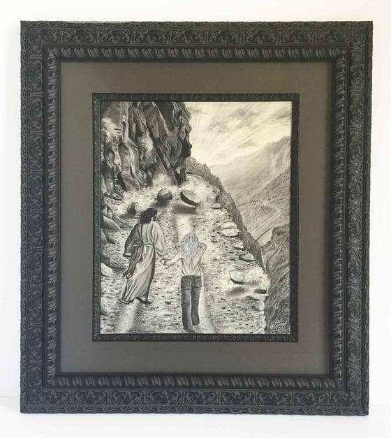 Image of I Am Not Alone: Original Framed Drawing