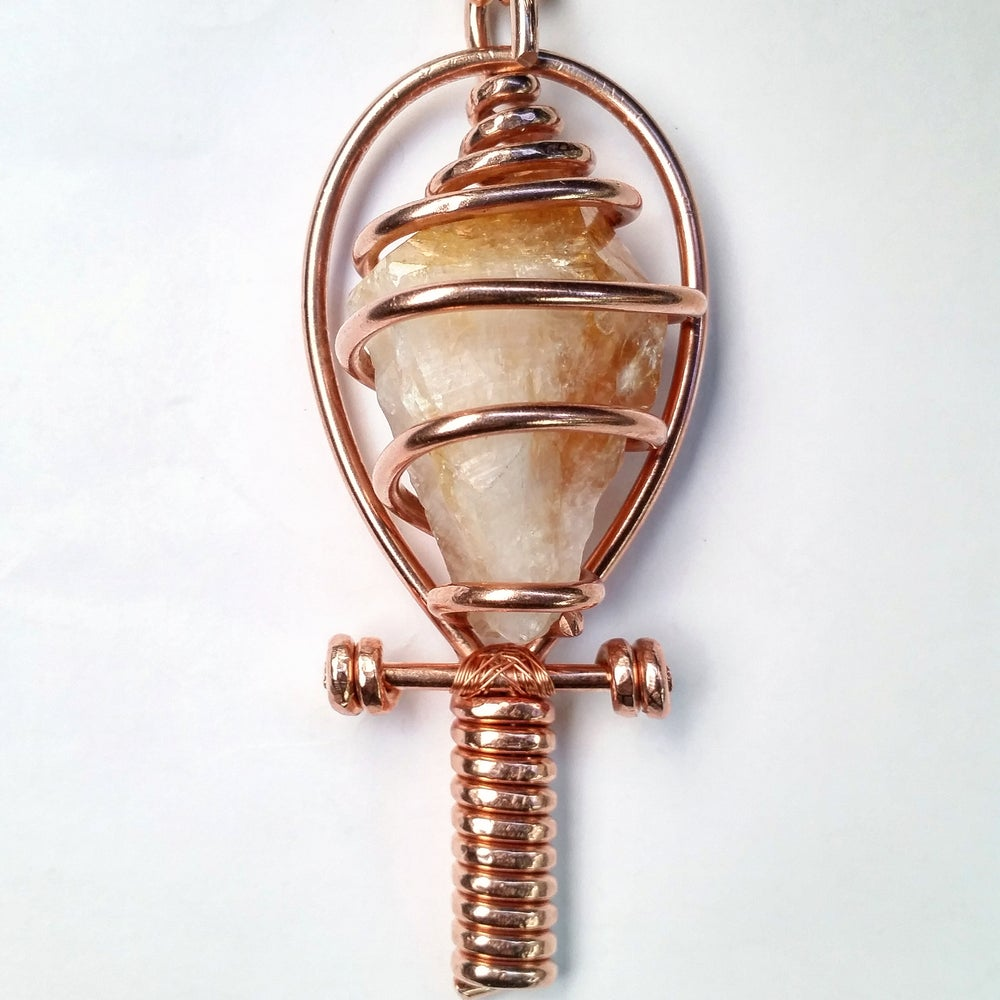 Image of Fully Wrapped Citrine Ankh