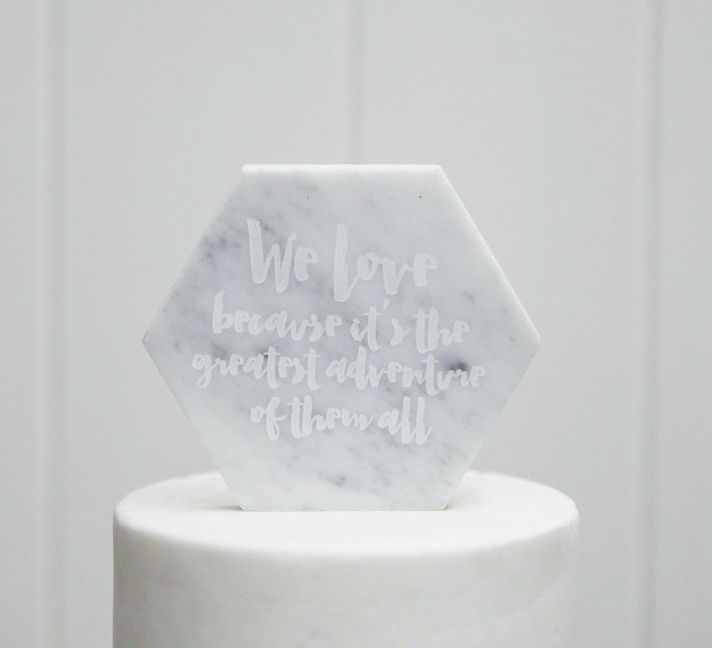 Image of Marble Cake Toppers