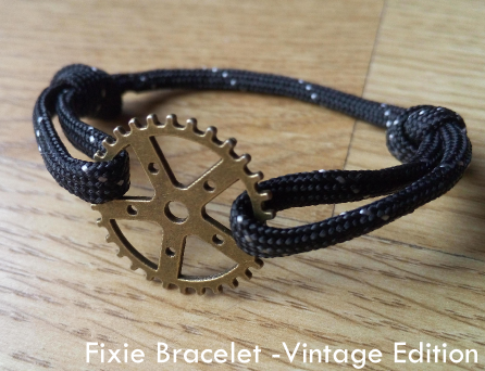 "Image of Fixie Bracelet ""Proud to be a rider"" - Vintage Edition"