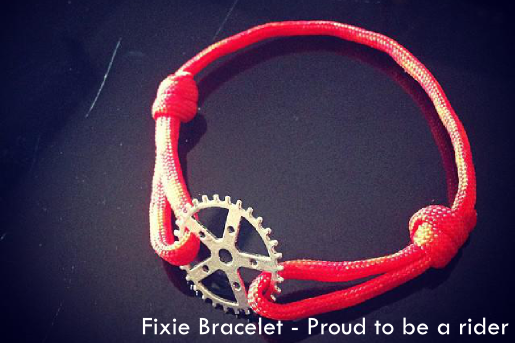 """Image of Fixie Bracelet """"Proud to be a rider"""""""