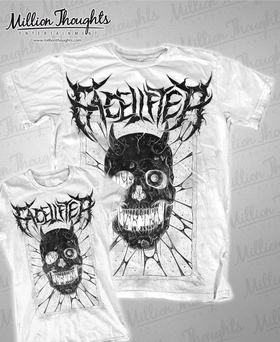 Image of Facelifter Skull T shirt white