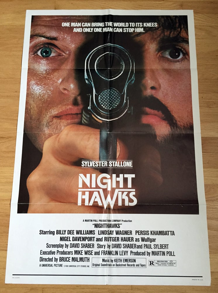 Image of 1981 NIGHT HAWKS Original U.S. One Sheet Movie Poster