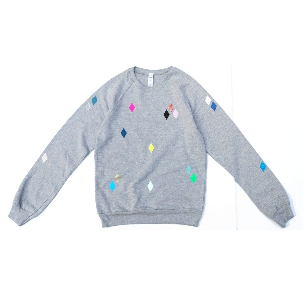 Image of Sweater Diamonds grey ADULT