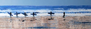 Image of Surfers Returning at the End of the Day, Polzeath