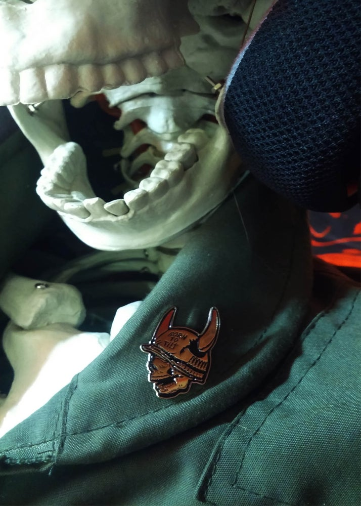 Image of Born To Tilt Lapel Pin