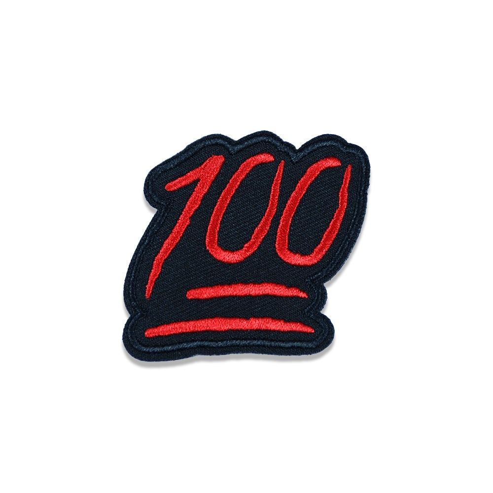 Image of Patch - 100 Red/Black