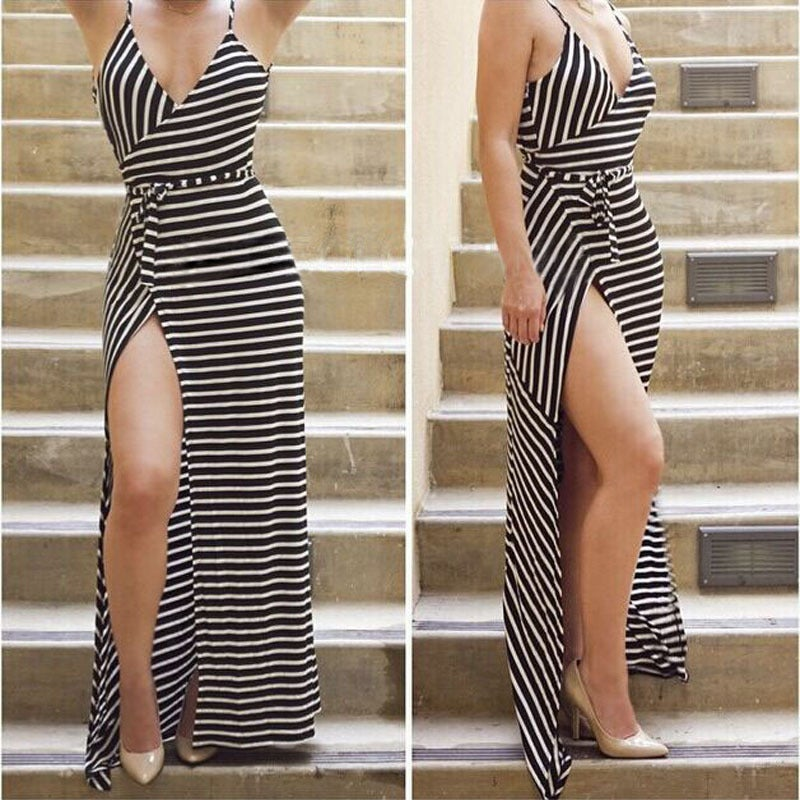 Image of Hot cute stripe straps dress
