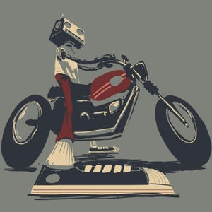 Moto Rider Print - Matt Q. Spangler Illustration