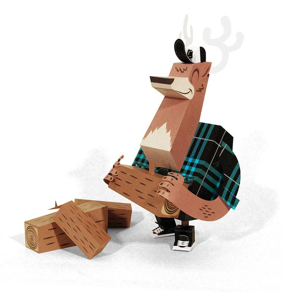 Image of Deer LumberJack