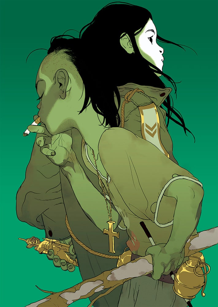Image of Tomer Hanuka's 'The Divine' (Green Version) AP