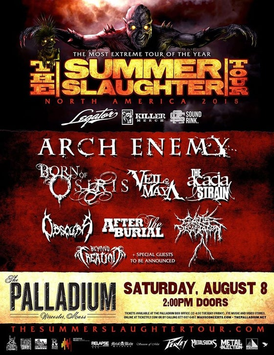 Image of Summer Slaughter Ticket (Palladium)
