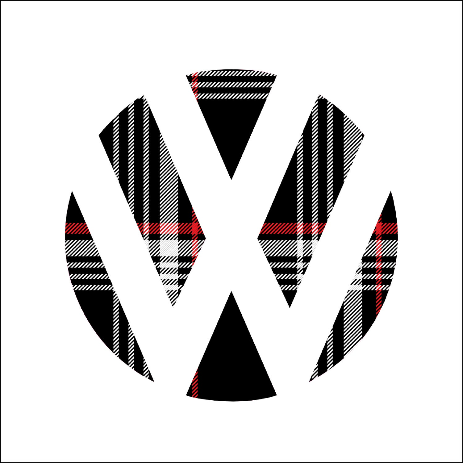 Image of Front Badge Vinyl - Plaid/Stickerbomb/Carbon Fiber/German Flag fits: MK7 GTI/Golf