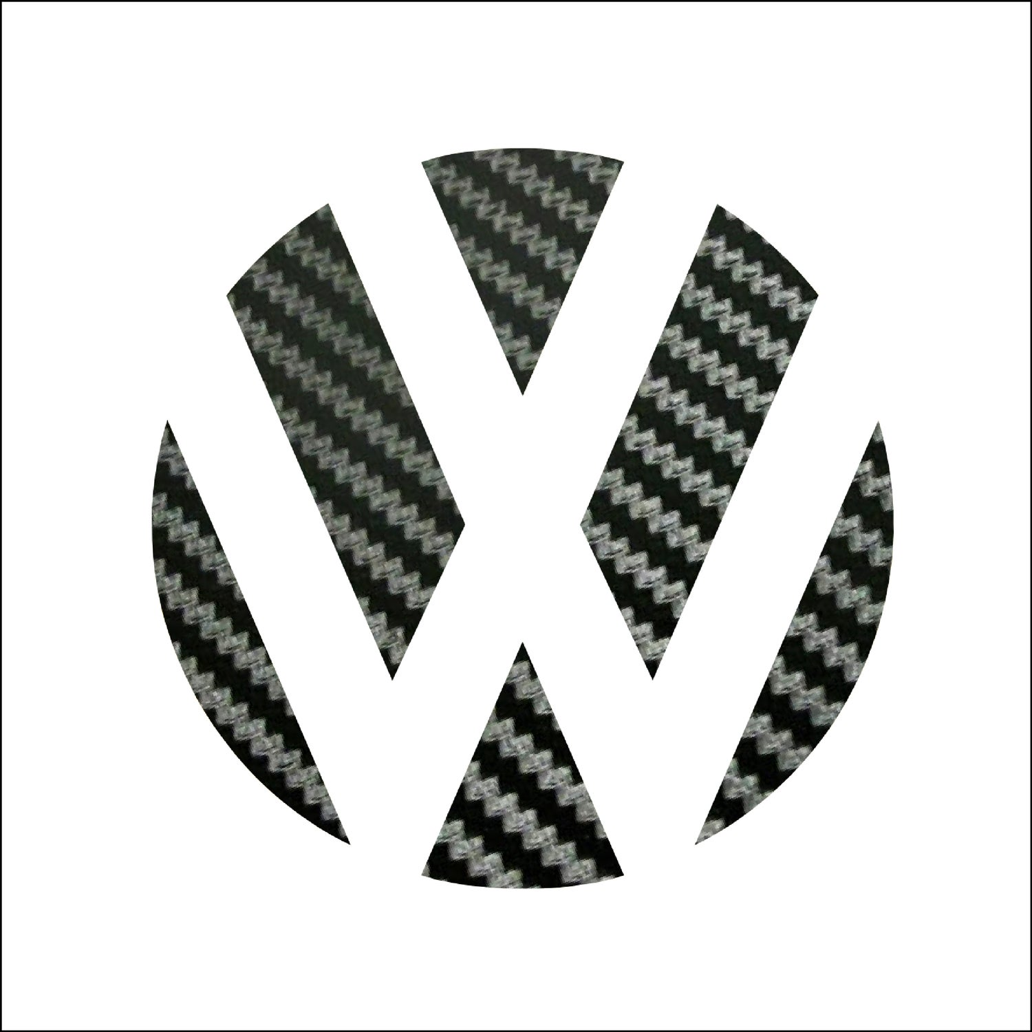 Image of Rear Badge Vinyl -Sticker bomb-German Flag-Carbon Fiber-White fits: MK6 Jetta