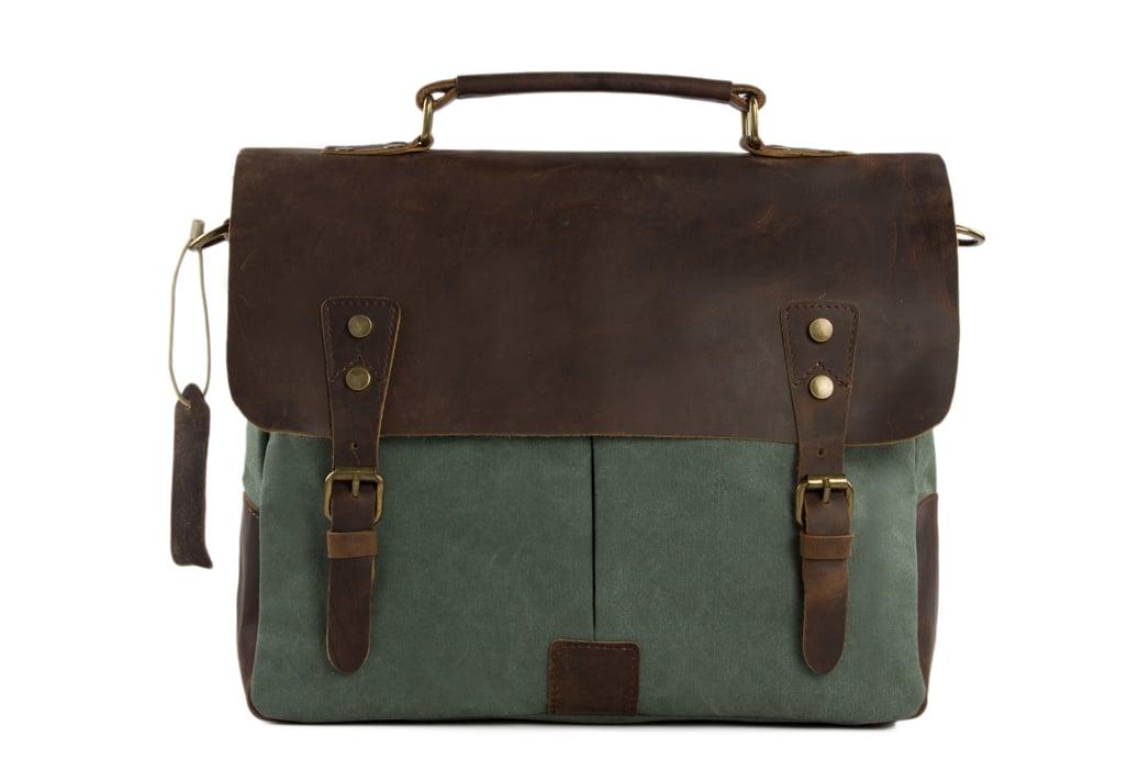 b6481492030a Image of Canvas Leather Bag Briefcase Messenger Bag Shoulder Bag Laptop Bag  1807