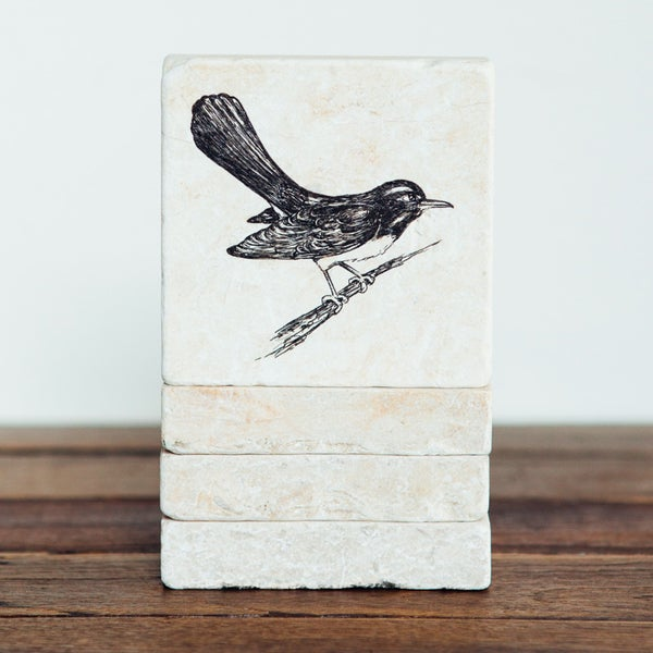 Image of Willie Wagtail Mini Stone Print
