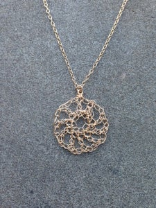 Image of Open pattern necklace - gold fill