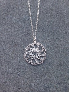 Image of open pattern necklace - silver