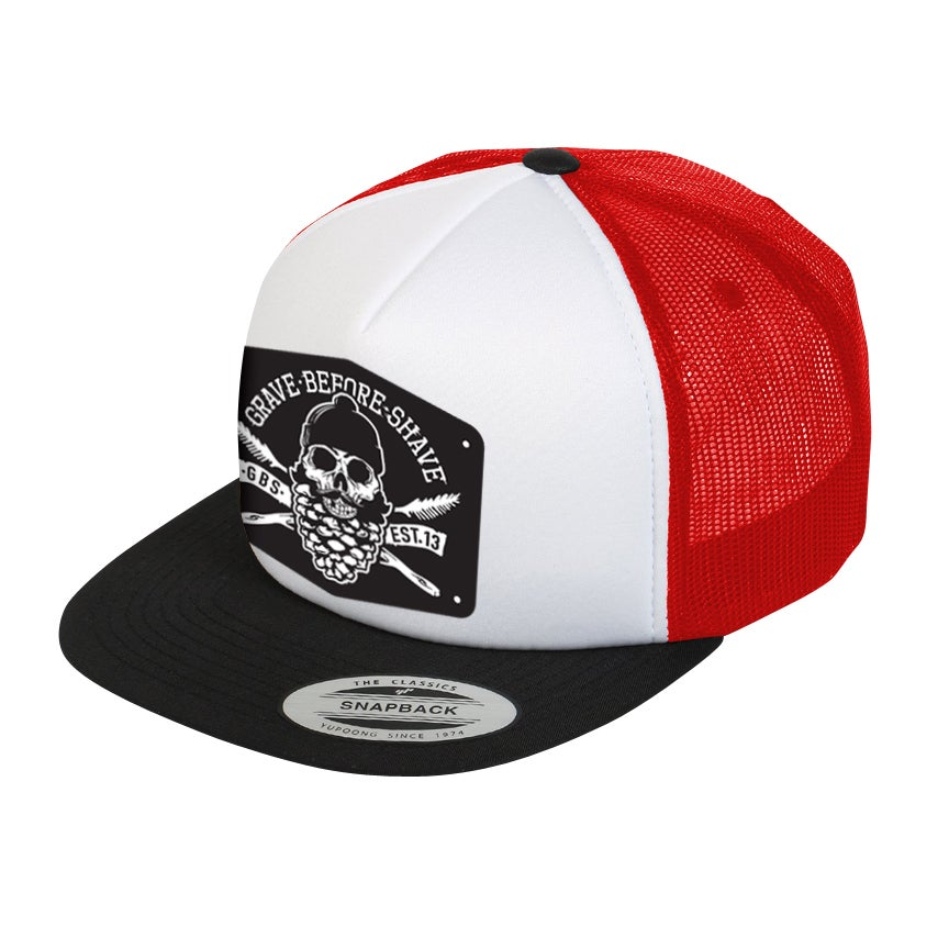 b5fefa8c3c1 FISTICUFFS™ LLC   GRAVE BEFORE SHAVE™ — GRAVE BEFORE SHAVE™ Trucker hat