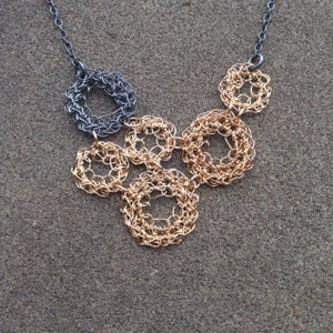 Image of Multi loop necklace - crocheted wire