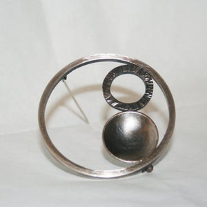 Image of Slate Hoops Brooch