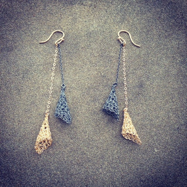 Image of Double tiny shell earrings