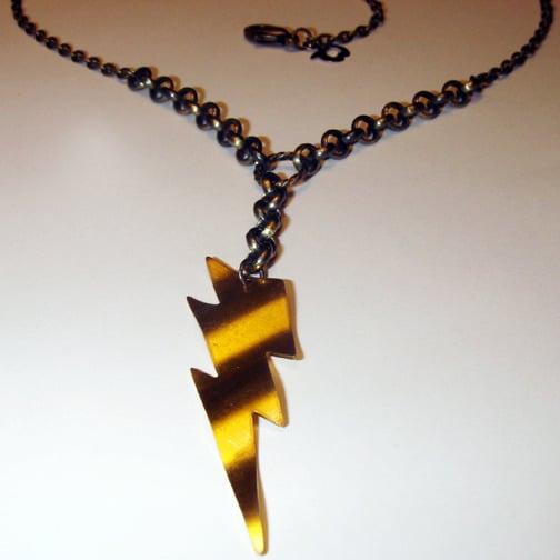 Image of Golden Lightning Necklace
