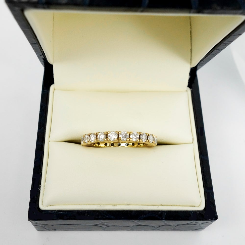 Image of 18ct yellow gold diamond wedding band