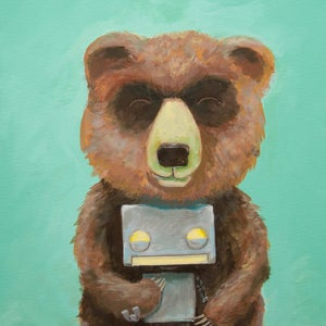 The Bear and Robot II - Matt Q. Spangler Illustration