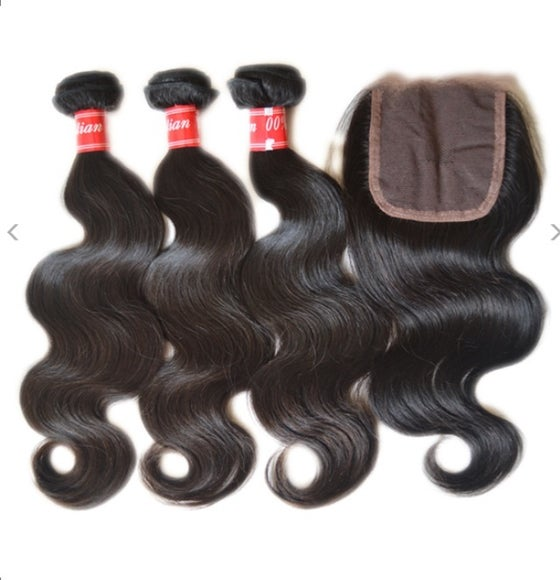 Image of Brazilian 3 Bundle+ closure