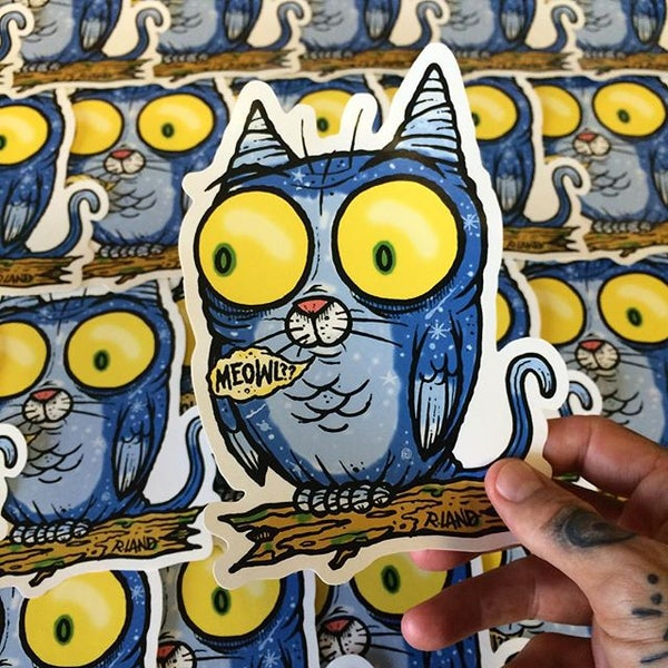 Image of Jumbo Meowl Sticker