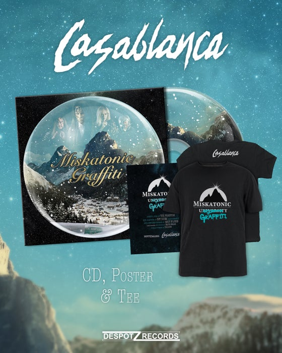 Image of Casablanca - Miskatonic Graffiti (CD/Poster/Shirt)
