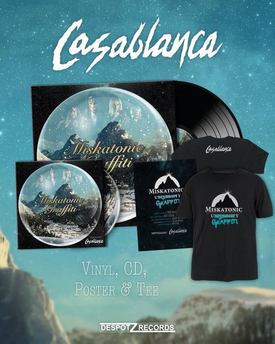 Image of Casablanca - Miskatonic Graffiti (CD/2xLP/Poster/Shirt)