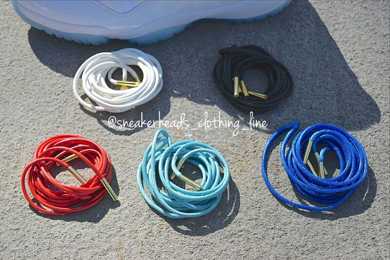 """Image of Exclusive """"Wax"""" Custom Rope Laces (Gold Lacetips)"""