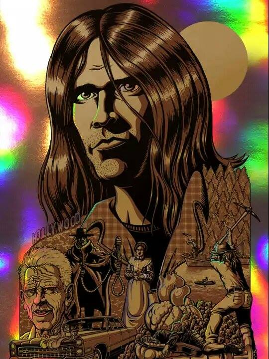 Image of Neil Young 'Harvest Moon' Art Print • Holographic Foil Variant