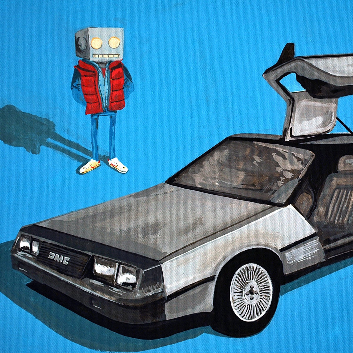 Image of DeLorean and Me Print