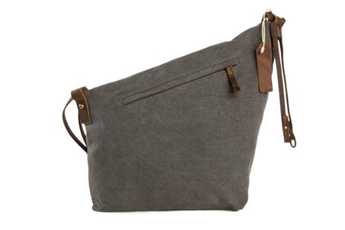 Image of Waxed Canvas Messenger Bag Crossbody Bag Shoulder Bag Satchel Bag 6631