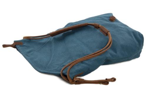 Image of Canvas Leather Satchel Bag, Waxed Canvas Messenger Bag Crossbody Bag Shoulder Bag 6631