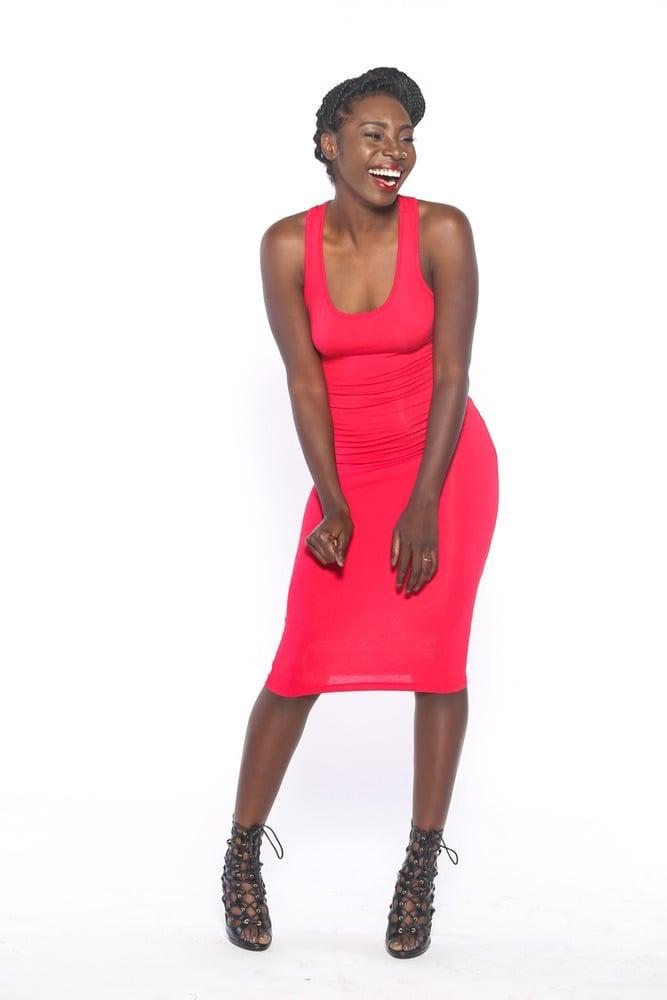 Image of Bare Basic Racerback Midi Dress (Red)