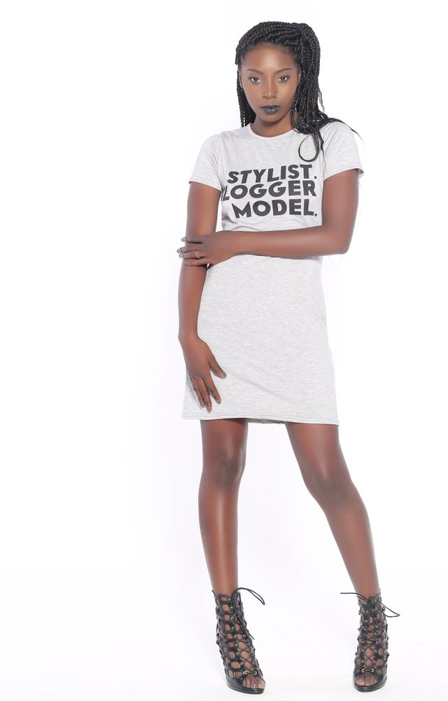 Image of Stylist Model Blogger T-Shirt Dress