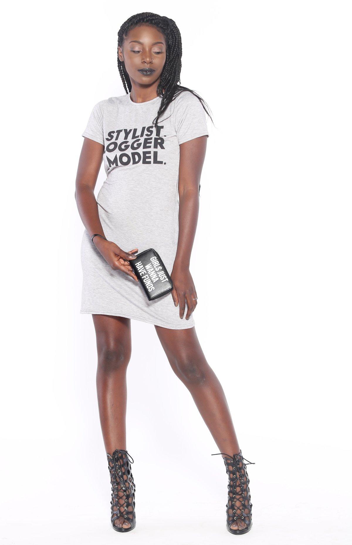 Image of Stylist Model Blogger T-Shirt Dress