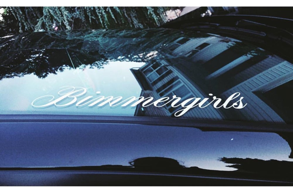 Image of Mini Bimmer girls windshield banner