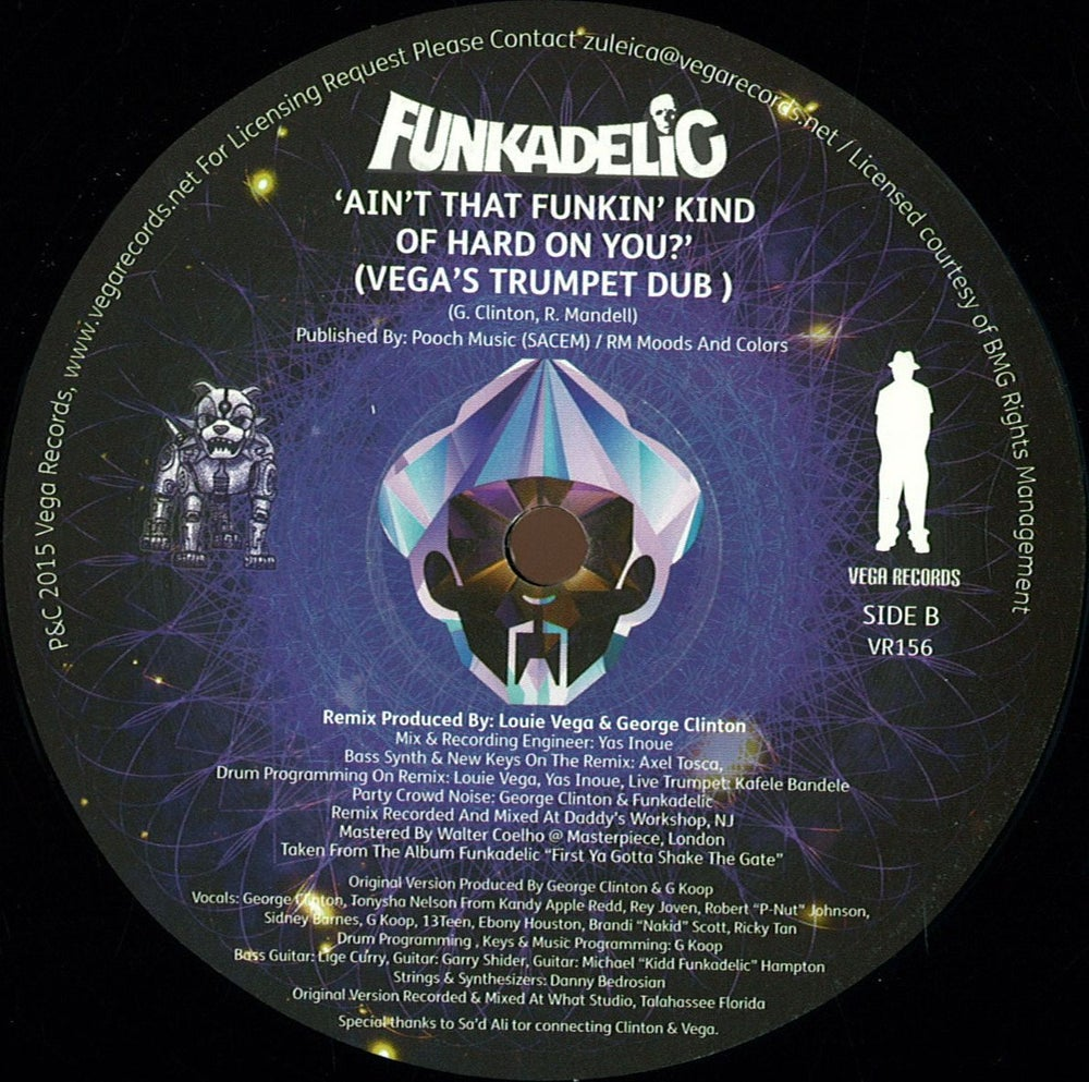 Image of FUNKADELIC-AIN'T THAT FUNKIN' KIND OF HARD ON YOU (LOUIE VEGA MIXES)